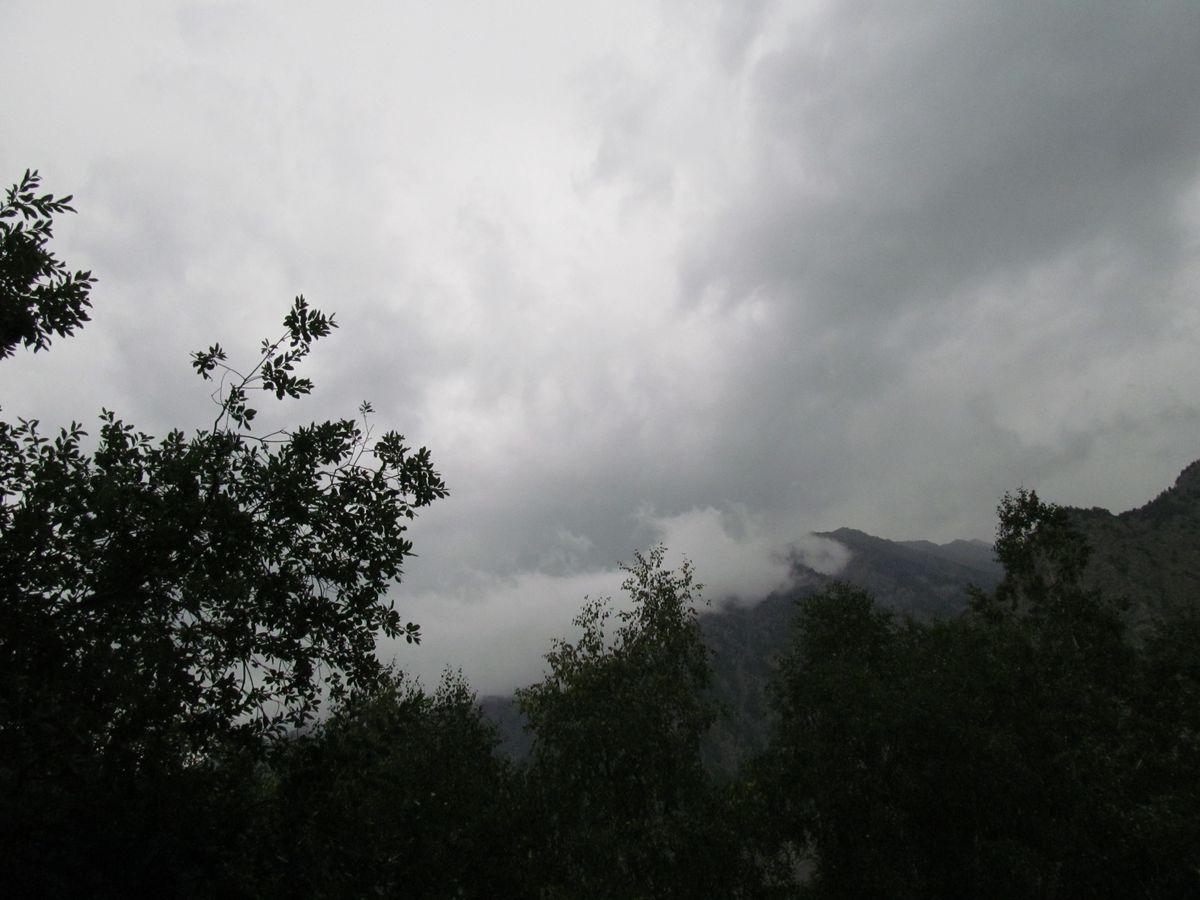 Кавказ 2018. Ущ. Тютю-су. Тучи над Баксаном.