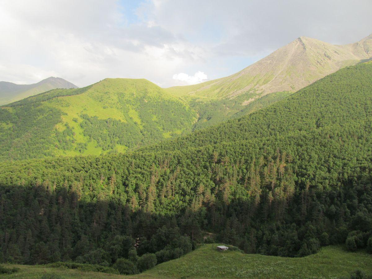 Кавказ 2017. Ущ. Каярты-су. Заброшенный кош в верховьях ущ. Каярты-су.