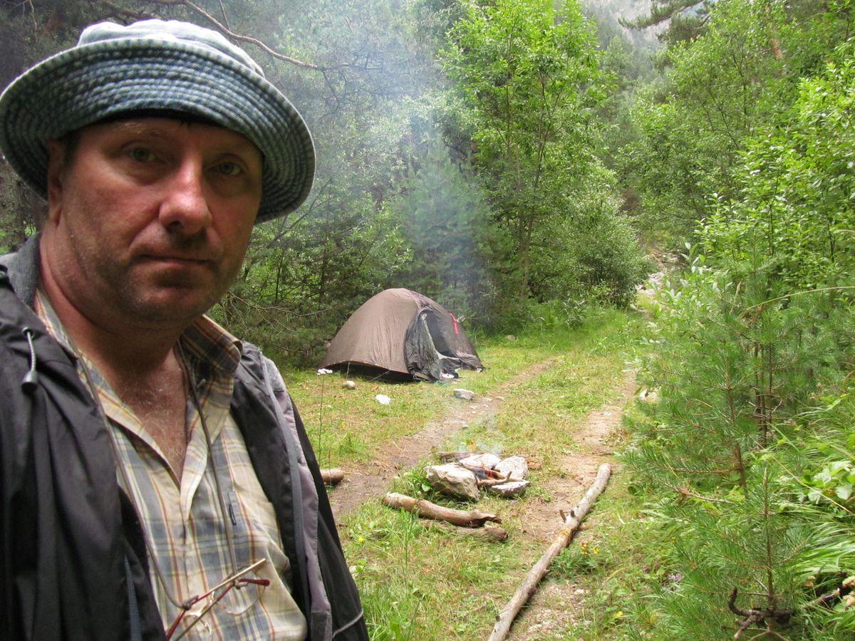 Кавказ 2018. ущ. Тютю-су. Стоянка перед переправой.