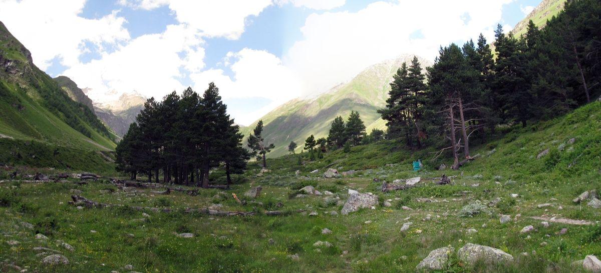 Кавказ 2019. Ущ. Ирик-чат. Хорошие стоянки перед подъёмом