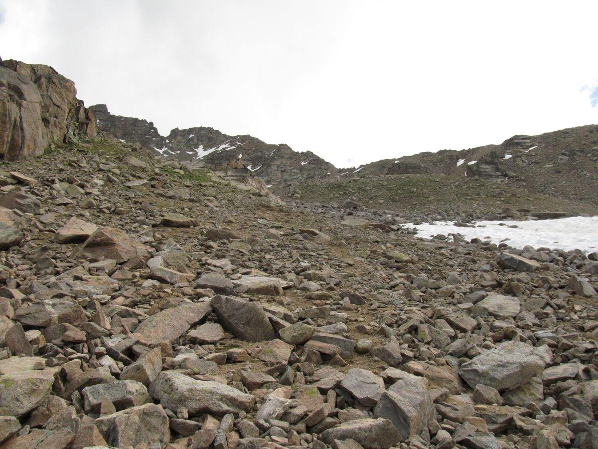 Кавказ 2019. Ущ. Ирик-чат. Ни троп, ни туров. Сплошные камни.