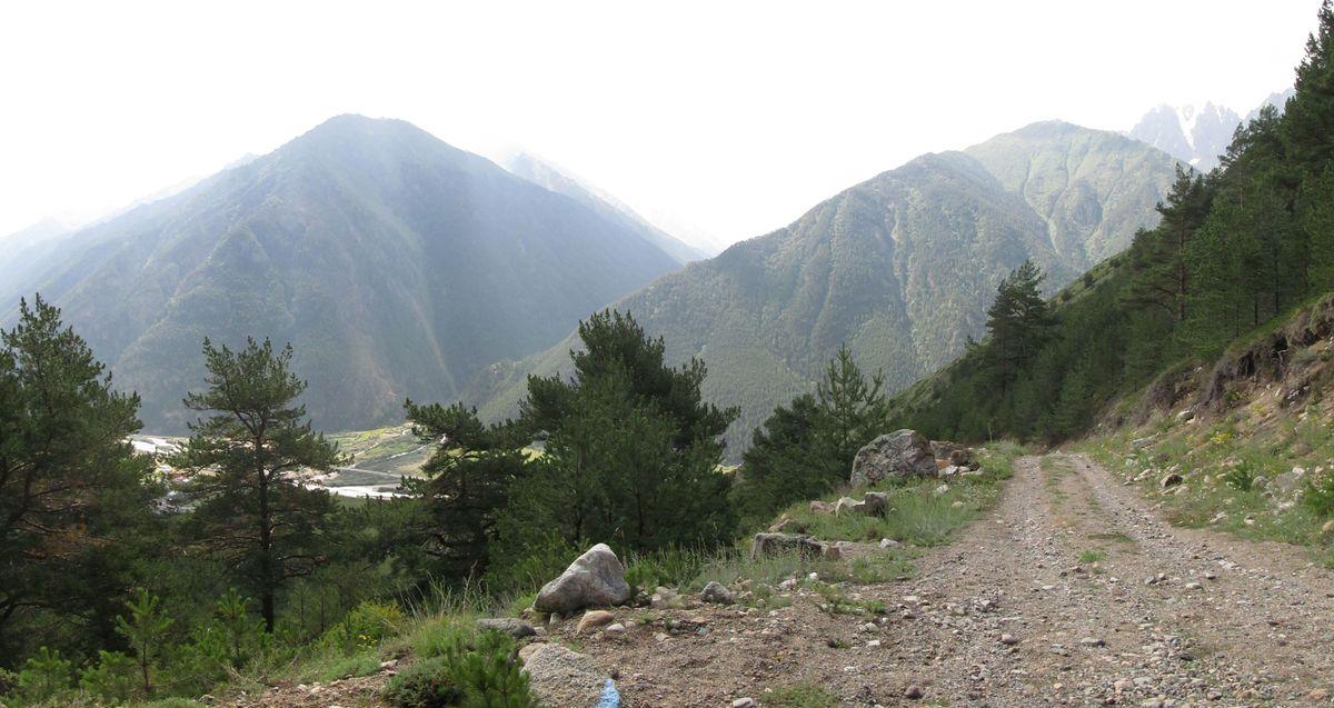 Кавказ 2019. Ущ. Сылтран-су. Вид на Баксан.