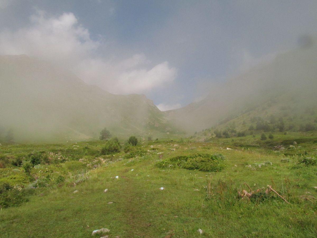 Кавказ 2019. Ущ. Сылтран-су. Рассосалось.